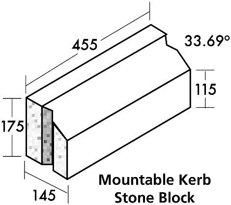 Mountable Kerb Stone Block